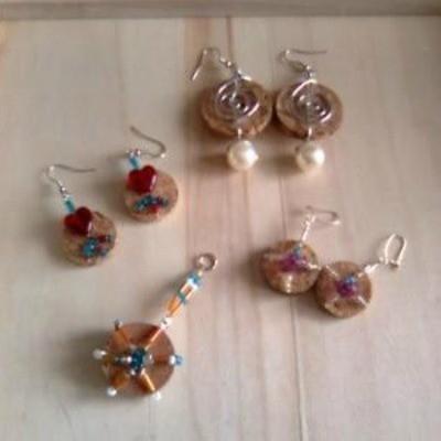 Wine Cork Earrings or Charms