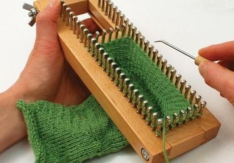 Using A Knitting Board Adjustable Sock Loom Thriftyfun