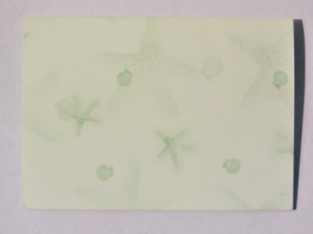 Score light green cardstock.