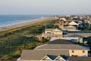 Overlooking Wrightsville Beach, North, Carolina.