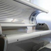 An open tanning bed.