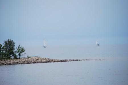 Sailboats in Flight (Port Elgin, Ontario)