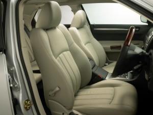 Seats in a car
