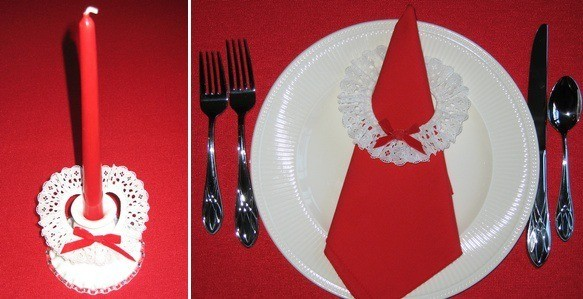 White lace napkin ring