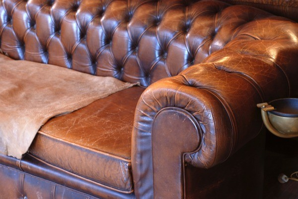 Genial Old Leather Sofa