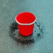 Bucket catching leak.