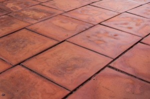 Old brown tile