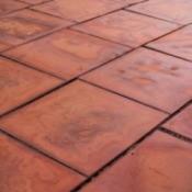 Old brown tile
