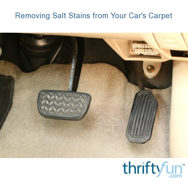 removing salt stains from your car 39 s carpet thriftyfun. Black Bedroom Furniture Sets. Home Design Ideas