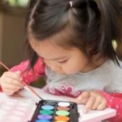 preschooler painting