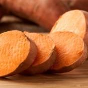 sliced sweet potato