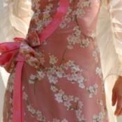 A beautiful floral chiffon dress.