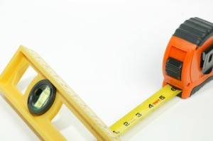 level and tape measure