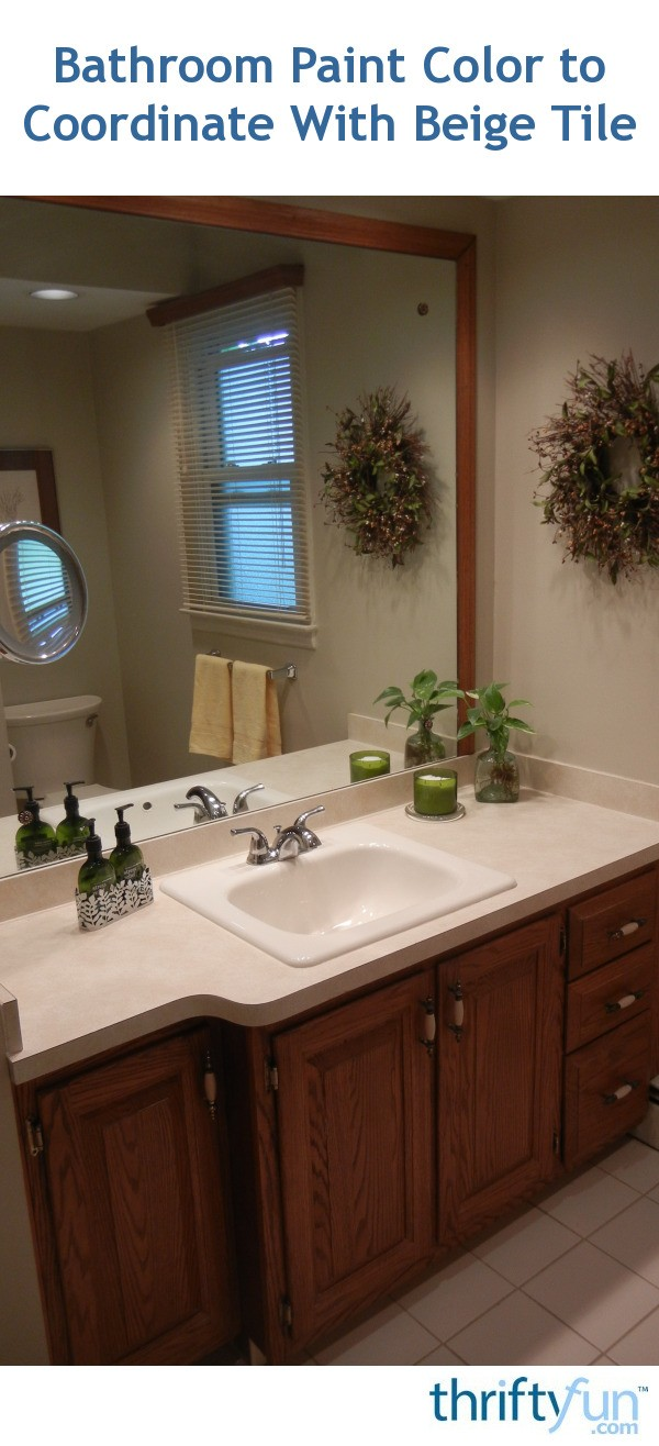 Swell Bathroom Paint Color To Coordinate With Beige Tile Thriftyfun Interior Design Ideas Gentotryabchikinfo