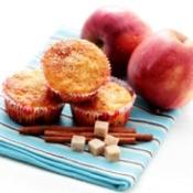 Muffins, apples, cinnamon sticks, sugar cubes.