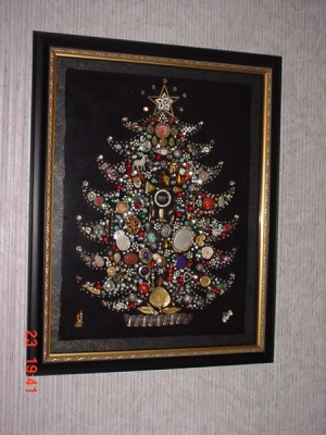 VIntage jewelry tree made by aunt.