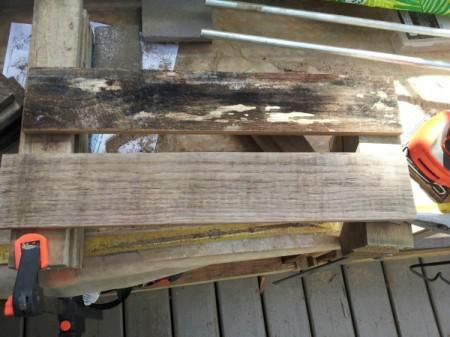 Pallet Door Spice Rack