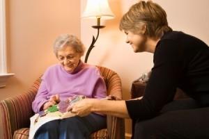Elderly Woman doing needle work