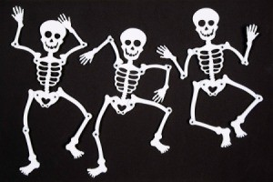 Dancing Skeleton, Halloween decorations.