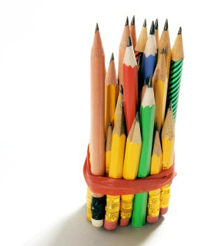 Short used pencils.