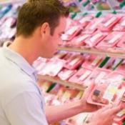 Man choosing meat.