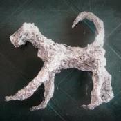 Aluminum Foil Dog Sculpture