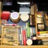 small trays in drawer