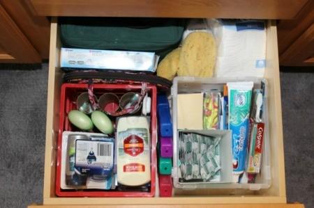 baskets in drawer