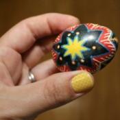 upclose of ukrainian egg
