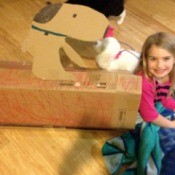 cardboard snoopy house