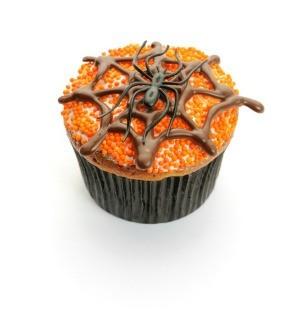 Spider cupcakes.