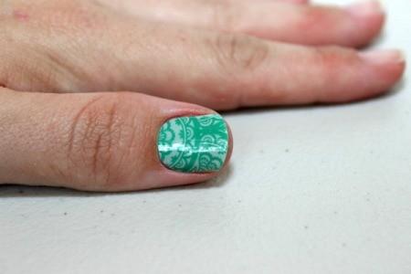 finish wrap on thumb