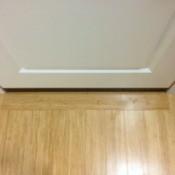 wood floor at a doorway