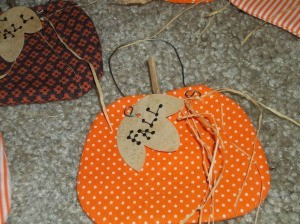 Fabric Pumpkin Ornament
