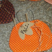 Fabric Pumpkin Ornament