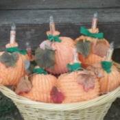 Fabric Pumpkin Lights