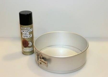 Mint Chocolate Chip Ice Cream Cake - spray with nonstick spray