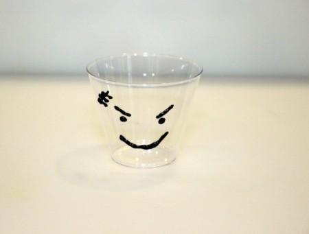 frankenstein face on cup