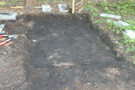dig hole for blocks
