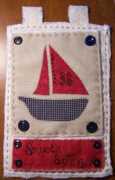 Sailboat quilt.