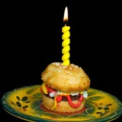 Burger shaped Cake