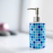 Blue Mosaic Soap Dispenser