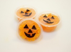 three jack o lantern cups 1