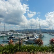 View of Airlie beach and marina