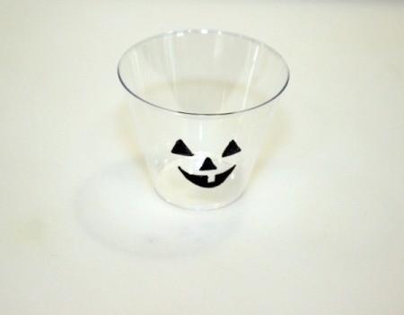 jack o lantern face on cup