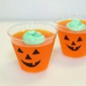 jello jack o lantern cups