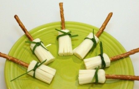 broom sticks laying on plate