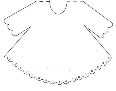 Template for dress card.