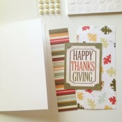 Happy Thanksging Card and Gift Bag