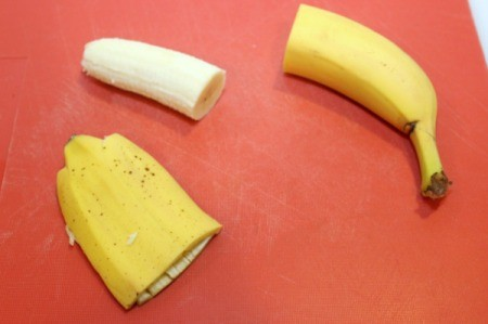 peel banana halves
